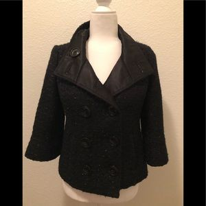 Guess tweed shimmery black peacoat